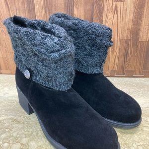 Muk Luks Women's Haley Boot Black Size 11